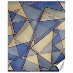 Blue And Tan Triangles Intertwine Together To Create An Abstract Background Canvas 11  X 14