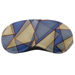 Blue And Tan Triangles Intertwine Together To Create An Abstract Background Sleeping Masks