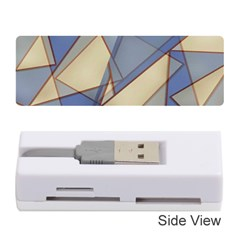 Blue And Tan Triangles Intertwine Together To Create An Abstract Background Memory Card Reader (stick)