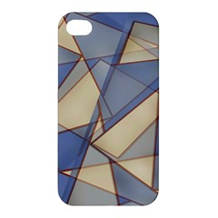 Blue And Tan Triangles Intertwine Together To Create An Abstract Background Apple iPhone 4/4S Hardshell Case