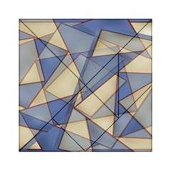 Blue And Tan Triangles Intertwine Together To Create An Abstract Background Acrylic Tangram Puzzle (6  x 6 )