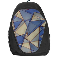 Blue And Tan Triangles Intertwine Together To Create An Abstract Background Backpack Bag