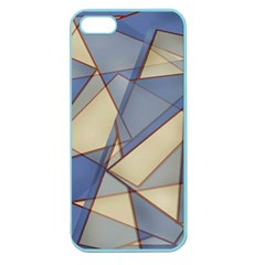 Blue And Tan Triangles Intertwine Together To Create An Abstract Background Apple Seamless iPhone 5 Case (Color)