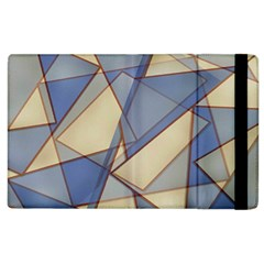 Blue And Tan Triangles Intertwine Together To Create An Abstract Background Apple iPad 2 Flip Case