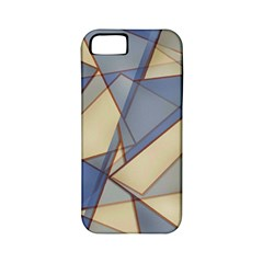 Blue And Tan Triangles Intertwine Together To Create An Abstract Background Apple Iphone 5 Classic Hardshell Case (pc+silicone)