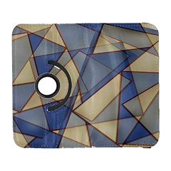 Blue And Tan Triangles Intertwine Together To Create An Abstract Background Galaxy S3 (Flip/Folio)