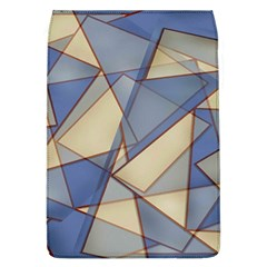 Blue And Tan Triangles Intertwine Together To Create An Abstract Background Flap Covers (l)