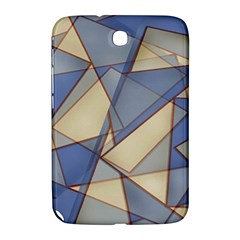 Blue And Tan Triangles Intertwine Together To Create An Abstract Background Samsung Galaxy Note 8.0 N5100 Hardshell Case