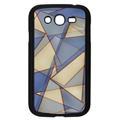 Blue And Tan Triangles Intertwine Together To Create An Abstract Background Samsung Galaxy Grand DUOS I9082 Case (Black)