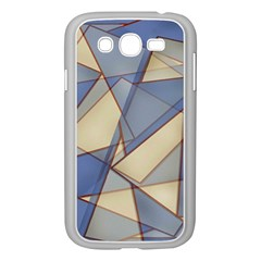 Blue And Tan Triangles Intertwine Together To Create An Abstract Background Samsung Galaxy Grand DUOS I9082 Case (White)