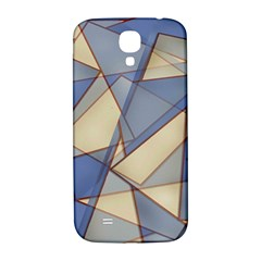 Blue And Tan Triangles Intertwine Together To Create An Abstract Background Samsung Galaxy S4 I9500/I9505  Hardshell Back Case