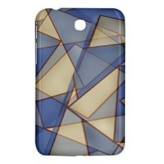 Blue And Tan Triangles Intertwine Together To Create An Abstract Background Samsung Galaxy Tab 3 (7 ) P3200 Hardshell Case