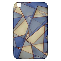 Blue And Tan Triangles Intertwine Together To Create An Abstract Background Samsung Galaxy Tab 3 (8 ) T3100 Hardshell Case