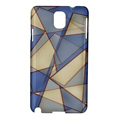 Blue And Tan Triangles Intertwine Together To Create An Abstract Background Samsung Galaxy Note 3 N9005 Hardshell Case