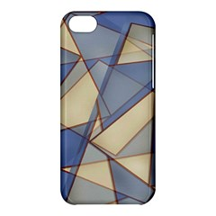Blue And Tan Triangles Intertwine Together To Create An Abstract Background Apple iPhone 5C Hardshell Case