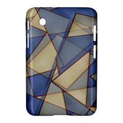 Blue And Tan Triangles Intertwine Together To Create An Abstract Background Samsung Galaxy Tab 2 (7 ) P3100 Hardshell Case