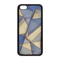 Blue And Tan Triangles Intertwine Together To Create An Abstract Background Apple iPhone 5C Seamless Case (Black)