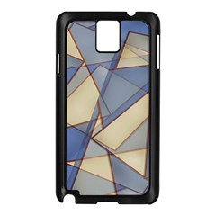 Blue And Tan Triangles Intertwine Together To Create An Abstract Background Samsung Galaxy Note 3 N9005 Case (Black)