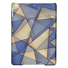 Blue And Tan Triangles Intertwine Together To Create An Abstract Background iPad Air Hardshell Cases