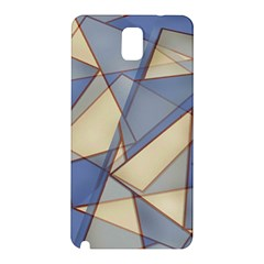 Blue And Tan Triangles Intertwine Together To Create An Abstract Background Samsung Galaxy Note 3 N9005 Hardshell Back Case