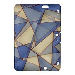 Blue And Tan Triangles Intertwine Together To Create An Abstract Background Kindle Fire HDX 8.9  Hardshell Case