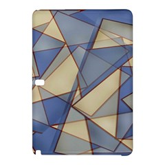 Blue And Tan Triangles Intertwine Together To Create An Abstract Background Samsung Galaxy Tab Pro 10.1 Hardshell Case