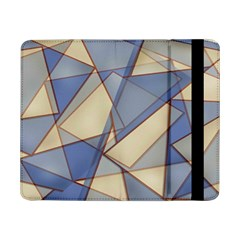 Blue And Tan Triangles Intertwine Together To Create An Abstract Background Samsung Galaxy Tab Pro 8.4  Flip Case