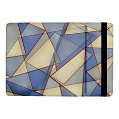 Blue And Tan Triangles Intertwine Together To Create An Abstract Background Samsung Galaxy Tab Pro 10.1  Flip Case