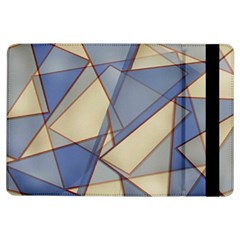 Blue And Tan Triangles Intertwine Together To Create An Abstract Background iPad Air Flip