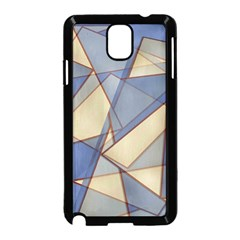 Blue And Tan Triangles Intertwine Together To Create An Abstract Background Samsung Galaxy Note 3 Neo Hardshell Case (black)