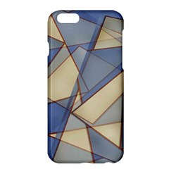Blue And Tan Triangles Intertwine Together To Create An Abstract Background Apple iPhone 6 Plus/6S Plus Hardshell Case