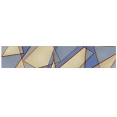 Blue And Tan Triangles Intertwine Together To Create An Abstract Background Flano Scarf (Large)