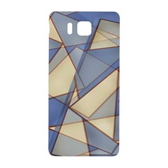 Blue And Tan Triangles Intertwine Together To Create An Abstract Background Samsung Galaxy Alpha Hardshell Back Case