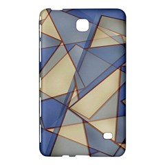 Blue And Tan Triangles Intertwine Together To Create An Abstract Background Samsung Galaxy Tab 4 (7 ) Hardshell Case
