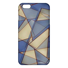 Blue And Tan Triangles Intertwine Together To Create An Abstract Background iPhone 6 Plus/6S Plus TPU Case