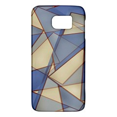 Blue And Tan Triangles Intertwine Together To Create An Abstract Background Galaxy S6