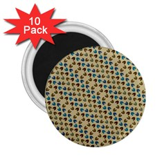 Abstract Seamless Pattern 2.25  Magnets (10 pack)