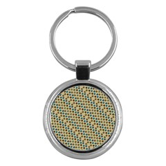 Abstract Seamless Pattern Key Chains (Round)