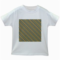 Abstract Seamless Pattern Kids White T Shirts