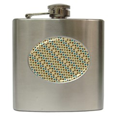 Abstract Seamless Pattern Hip Flask (6 Oz)