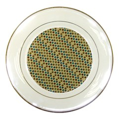 Abstract Seamless Pattern Porcelain Plates