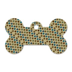 Abstract Seamless Pattern Dog Tag Bone (one Side)