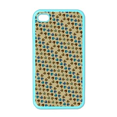 Abstract Seamless Pattern Apple iPhone 4 Case (Color)