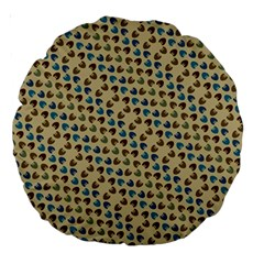 Abstract Seamless Pattern Large 18  Premium Round Cushions