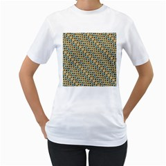 Abstract Seamless Pattern Women s T-Shirt (White)