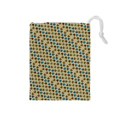 Abstract Seamless Pattern Drawstring Pouches (medium)