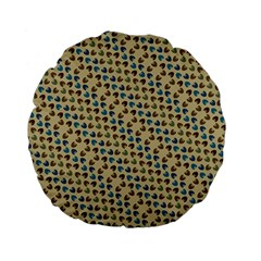 Abstract Seamless Pattern Standard 15  Premium Flano Round Cushions