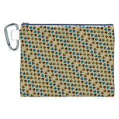 Abstract Seamless Pattern Canvas Cosmetic Bag (xxl)