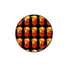 Paper Lanterns Pattern Background In Fiery Orange With A Black Background Hat Clip Ball Marker (4 pack)