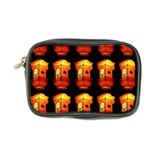 Paper Lanterns Pattern Background In Fiery Orange With A Black Background Coin Purse